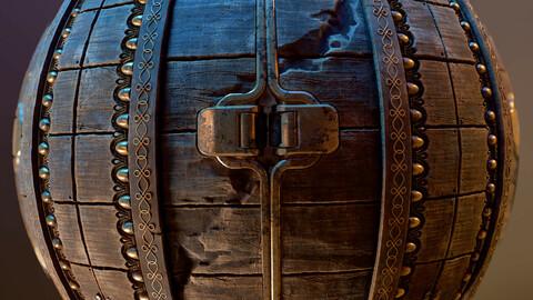 PBR - BASEMENT DOOR, OLD, ANCIENT - 4K MATERIAL