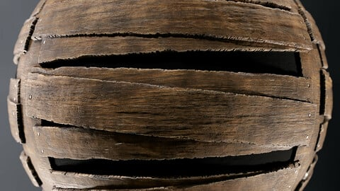 PBR - BOARDED WOOD FOR DOORS AND WINDOWS - 4K MATERIAL
