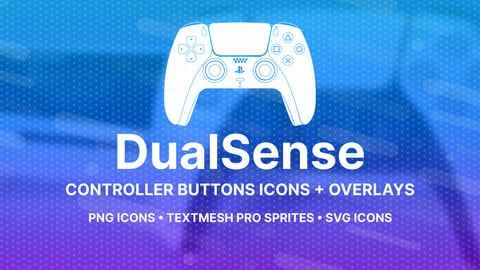 DualSense Buttons Icons + Overlays