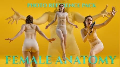 Female Anatomy Photo Reference Pack For Artists 895 JPEGs