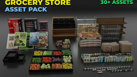 Grocery Store Asset Pack
