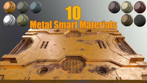 10 painted Metal Smart Materials