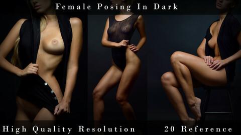 Female Posing In Dark