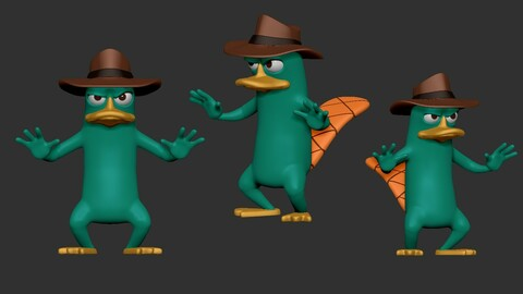 Perry the Platypus  3d printable model