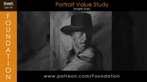 Foundation Art Group - Portrait Value Study with Lixin Yin