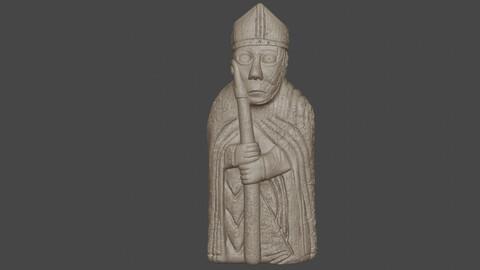 the lewis chessmen 3D print model