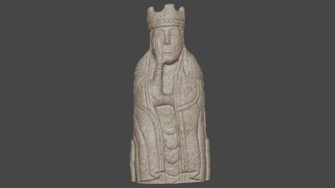 the king lewis chessmen 3D print model