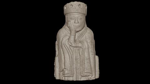the queen lewis chessmen 3D print model