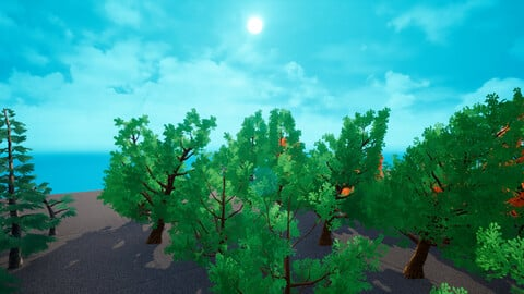100 Stylized Trees [Unreal Engine 4]