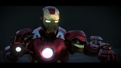 Iron Man MK-7 Armour from The Avengers 2012 - 3D Model Rigged