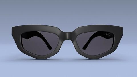 Dezi sunglasses in 2021 Square sunglasses women 3D model