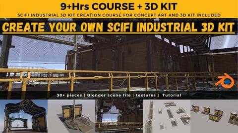 Create Your Own SciFi 3D Kit Course + 3D Kit