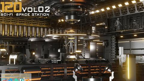120 SCI-FI SPACE STATION KITBASH VOL 02