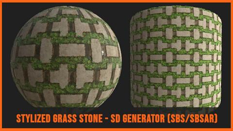 Stylized Grass Stones