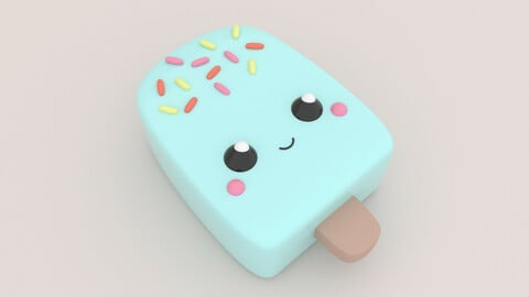 Cute Popsicle - 3D Print Model