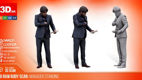 Cleaned 3D Body scan Manager Standing
