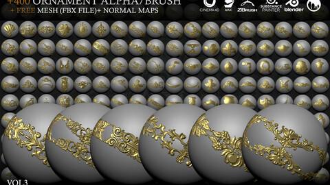 +267 Ornament IMM Brush/Normal/Alphas - Vol.3