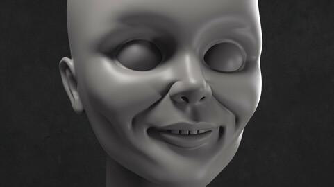 Annabelle 3D printable doll head
