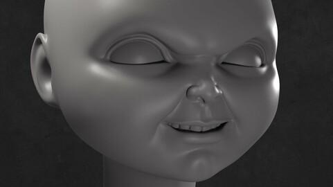Chucky Doll Head 3D printable model