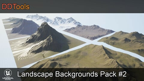 DDTools - Landscape backgrounds pack #2 for Unreal Engine