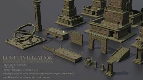 LOST CIVILIZATION 3D Pack for Concept Art