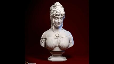 Bust of a italian woman