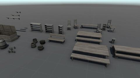Wood Assets Bundle v1 to v4