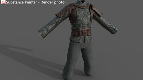 Ancient male warrior costume