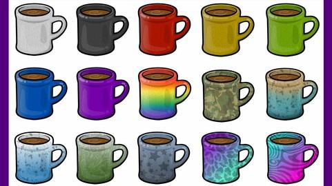 Twitch Sub Badges: Mugs Coffee Tea