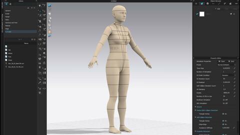 Realistic avatar-mannequin for Clo3D Size 38 EU