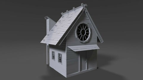 POLYGON Cute Wooden House