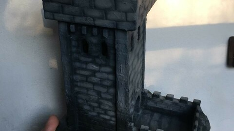 Medieval Dice Tower - done for 3D print