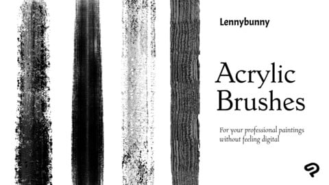 Lennybunny Acrylic brush set for Clip Studio Paint (CSP)