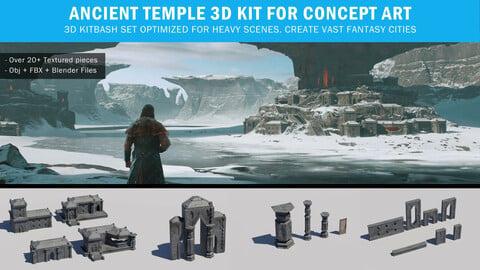 Ancient Temple 3d Kit for Concept Art
