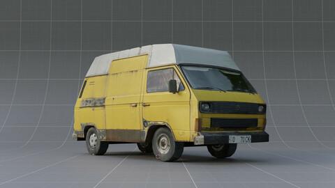 Yellow Car | LowPoly model