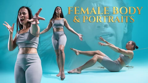 Female Body & Portraits vol. 2 Photo Reference Pack for Artists 739 JPEGs