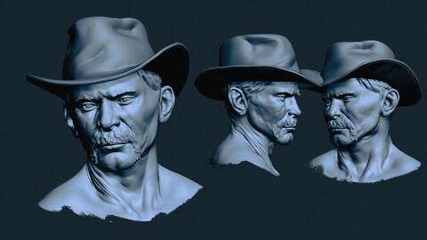 Man in hat sketch