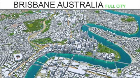 Brisbane City Australia 3D Model