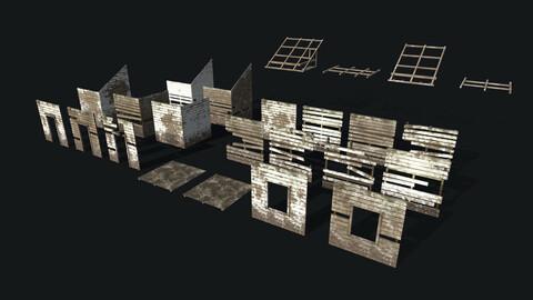 Wooden Building Modular Kit