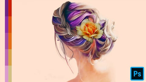 Cute Hair Swatches for Photoshop