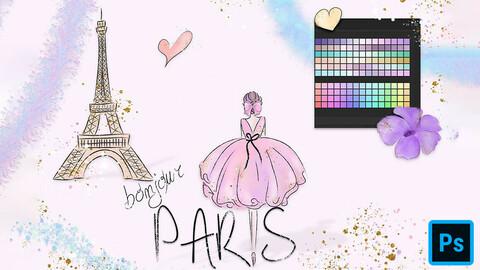 Bonjour Paris Assets for Photoshop