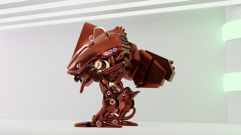 Robot 3D model made in blender -Sci-fi character