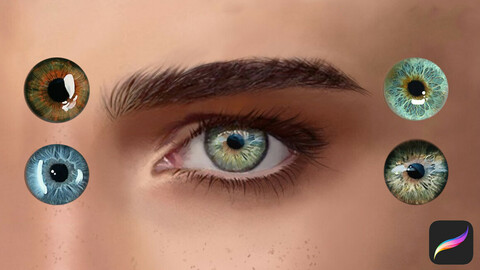 Eyes Swatches for Procreate