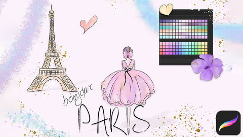 Bonjour Paris Asets for Procreate