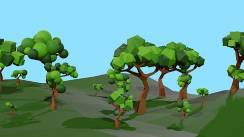 Low Poly Stylised Tree Pack
