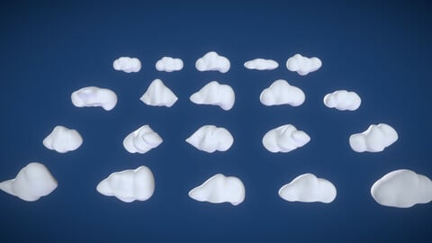 Puffy Stylized Clouds Pack