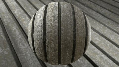 Ribbed concrete surface (PBR Material 8K)