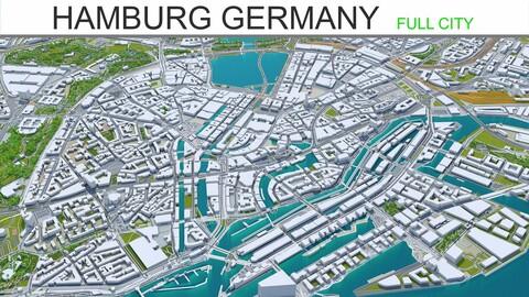 Hamburg City Germany 3D Model