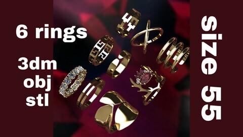 Varient jewel rings