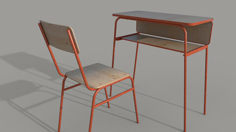 School chair and desk A